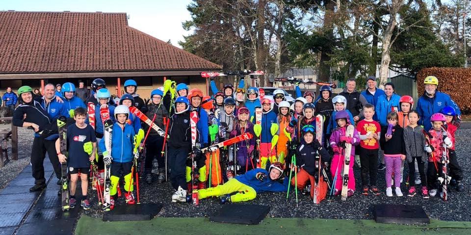 Gordon Skiers training session