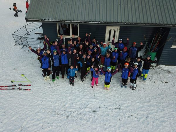Gordon skiers members and coaches at the Lecht